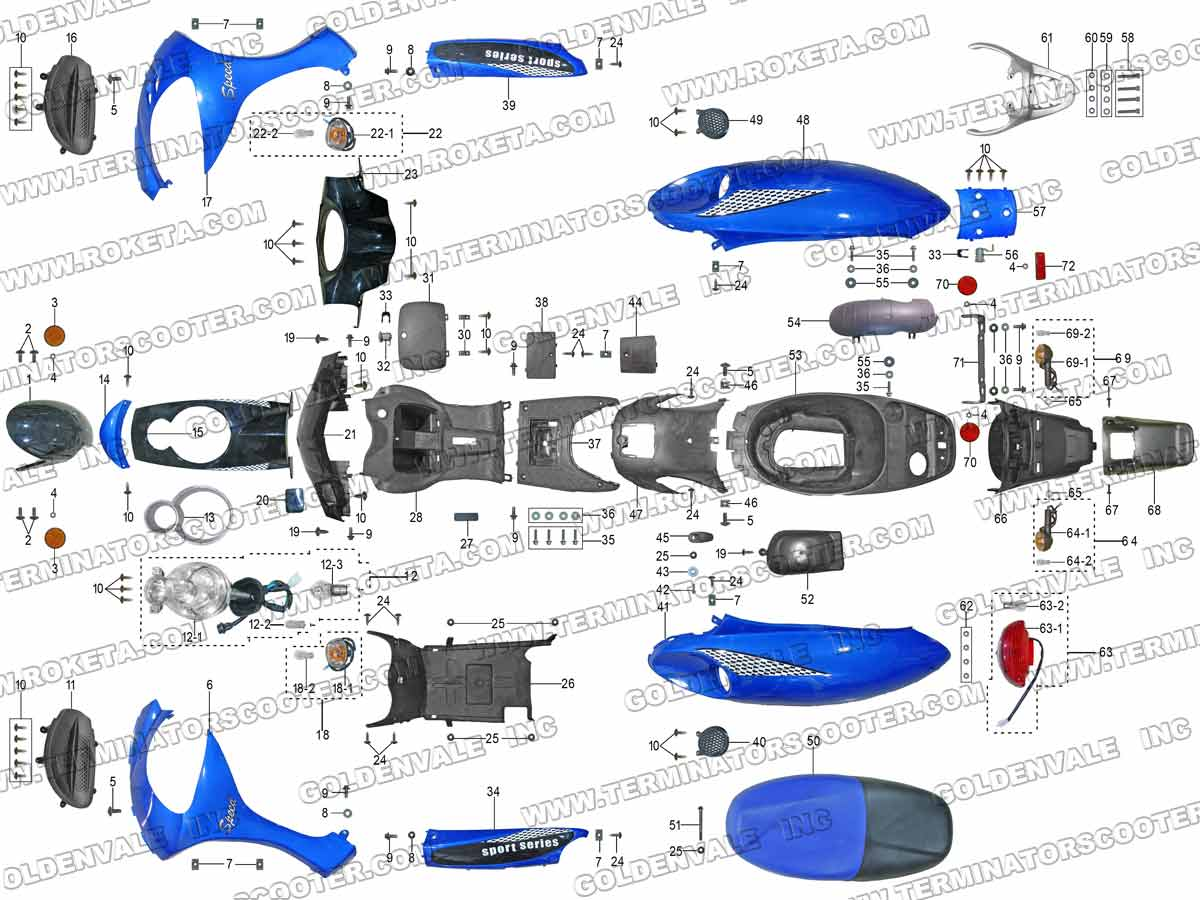 covering parts assembly(01)